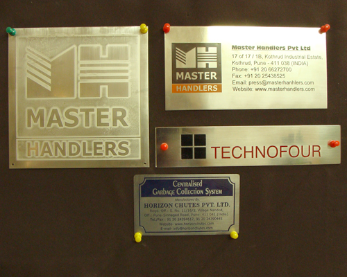 S.S. Name Plates with Companey Logo